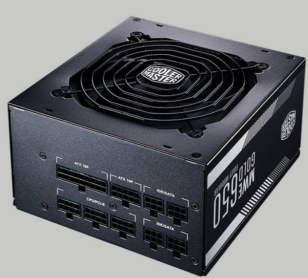 650W Coolermaster MWE Gold Serise 80 Plus Gold Fully Modular Cables Management Power Supply