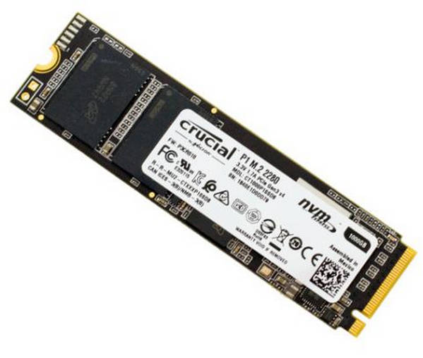 500GB Crucial P1 3D NAND NVMe PCIe M.2 Solid State Disk (SSD)