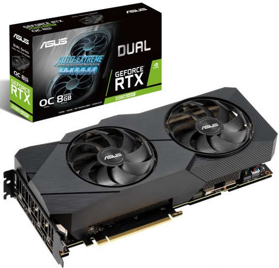 ASUS DUAL-RTX2080S-O8G-EVO-V2 Dual RTX 2080 SUPER EVO V2 OC edition 8GB GDDR6 256-bit, Core Clock up to 1860 MHz