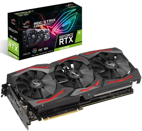 ASUS ROG-STRIX-RTX2060S-A8G-GAMING ROG Strix GeForce RTX 2060 SUPER Advanced edition 8GB GDDR6 256-bit, GPU Boost Clock up to 1710 MHz