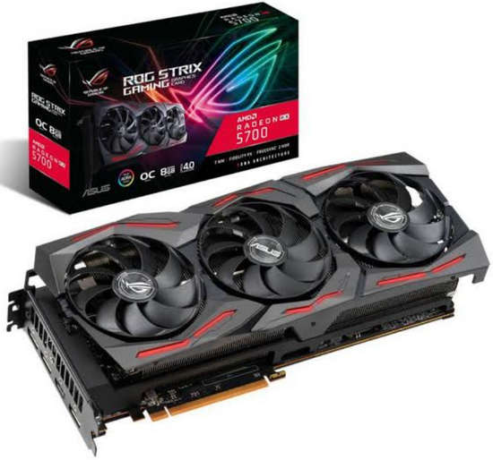 ASUS ROG-STRIX-RX5700-O8G-GAMING ROG Strix Radeon RX 5700 OC edition 8GB GDDR6 256-bit Up to 1750MHz GPU Boost Clock
