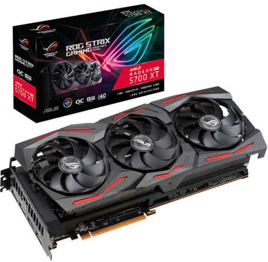 ASUS ROG-STRIX-RX5700XT-O8G-GAMING ROG Strix Radeon RX 5700XT OC edition 8GB GDDR6 256-bit Up to 2035MHz GPU Boost Clock