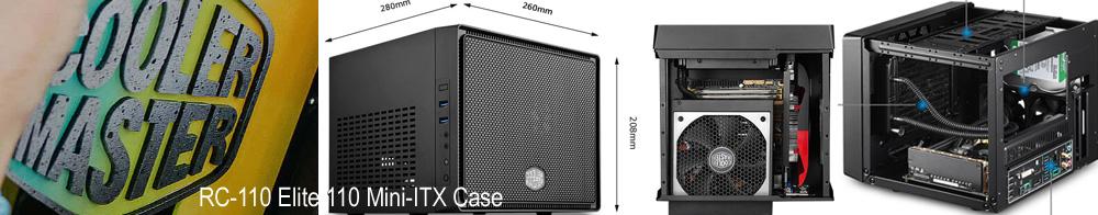 Coolermaster RC-110 Elite 110 Black Mini-ITX Case